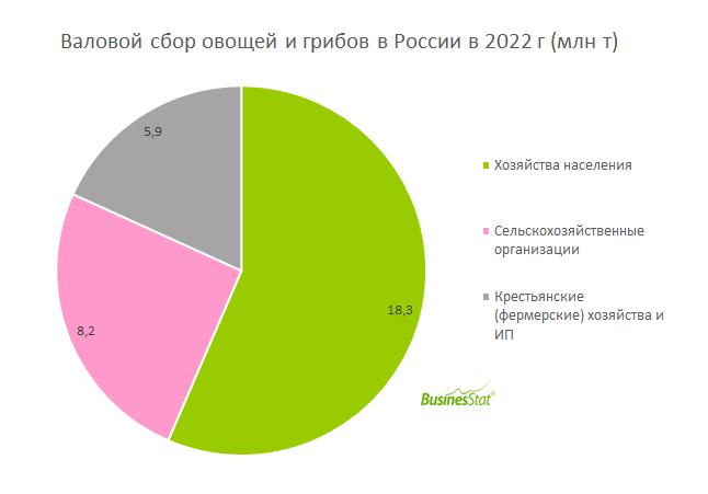 Структура продаж свежих овощей и грибов в России_BusinesStat
